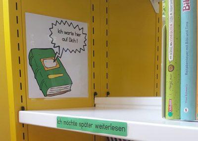 """Die Schüler*innen können """"ihr"""" Buch bei mehreren Besuchen zu Ende lesen."""